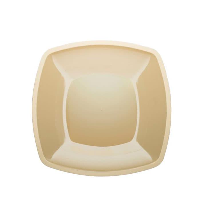 Plato de Plastico Llano Crema Square PS 300mm (144 Uds)