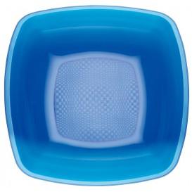 Plato de Plastico Hondo Azul Transp. Square PS 180mm (150 Uds)
