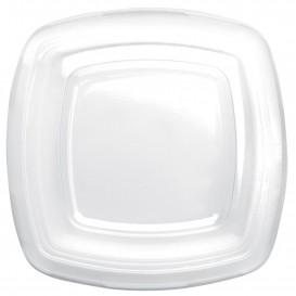 Tapa de Plastico Transp. para Plato Square PET 180mm (25 Uds)