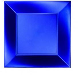 Plato de Plastico Llano Azul Nice Pearl PP 290mm (12 Uds)