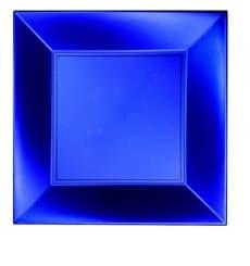 Plato de Plastico Llano Azul Nice Pearl PP 290mm (144 Uds)