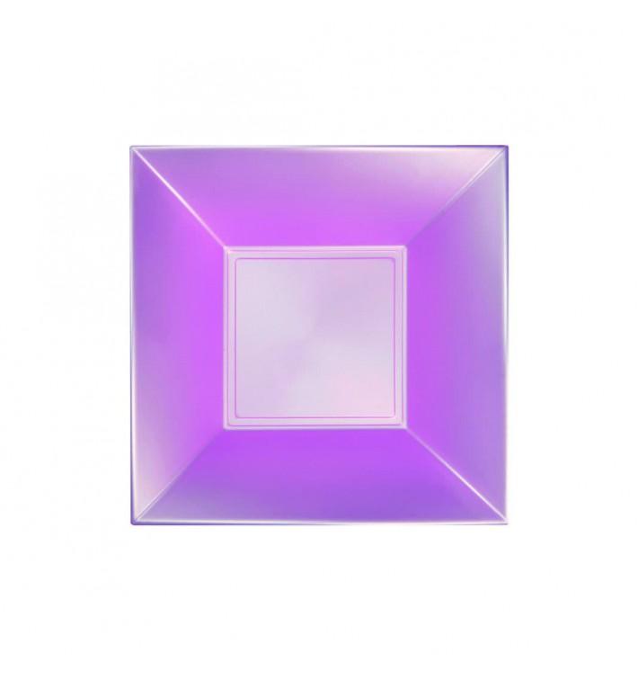 Plato de Plastico Hondo Violeta Nice Pearl PP 180mm (150 Uds)