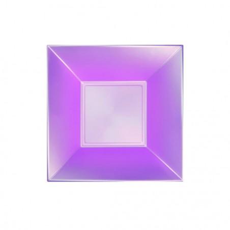 Plato Hondo Reutilizable PP Violeta Nice Pearl 18cm (300 Uds)
