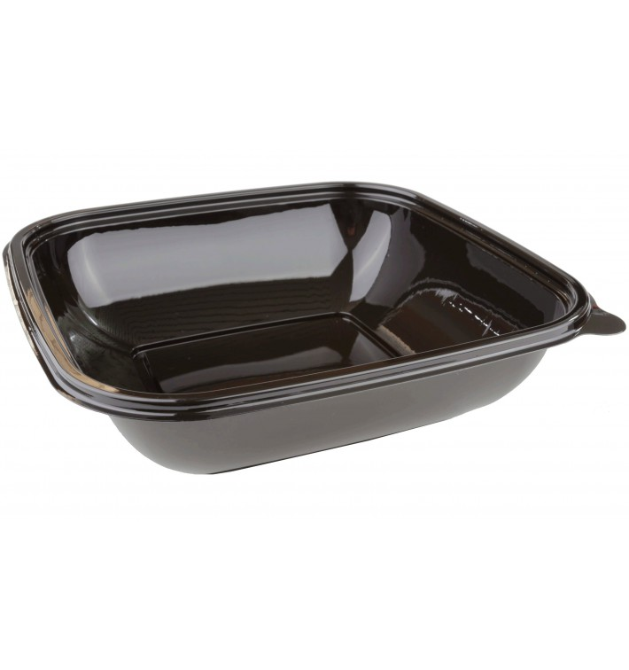 Bol Plástico Negro PET 1000ml 190x190x50mm (50 Uds)