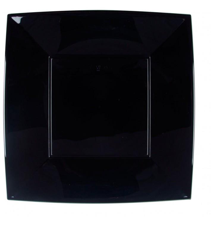 Plato de Plastico Llano Negro Nice PP 290mm (12 Uds)