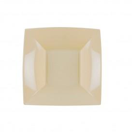 Plato de Plastico Hondo Crema Nice PP 180mm (25 Uds)