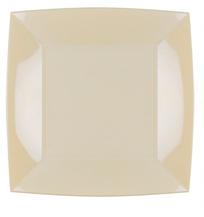 Plato de Plastico Llano Crema Nice PP 290mm (144 Uds)