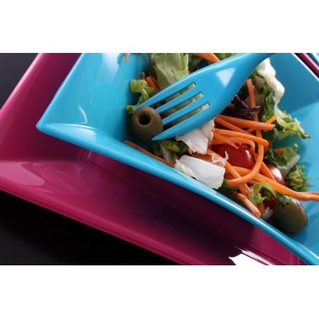 Plato de Plastico Hondo Turquesa Nice PP 180mm (150 Uds)