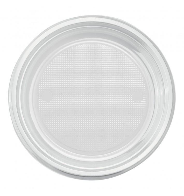 Plato de Plastico PS Llano Transparente Ø170mm (50 Uds)