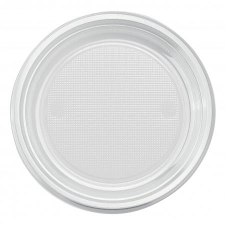 Plato de Plastico Llano Transparente PS 170mm (50 Uds)