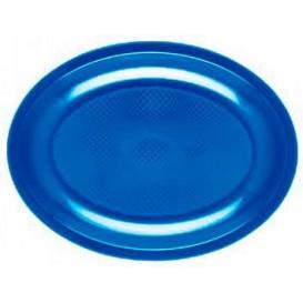Bandeja Ovalada Azul Mediterraneo Round PP 305mm (25 Uds)