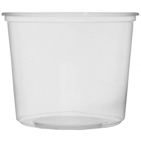 Tarrina de Plastico Transparente 400ml Ø10,5cm (50 Uds)