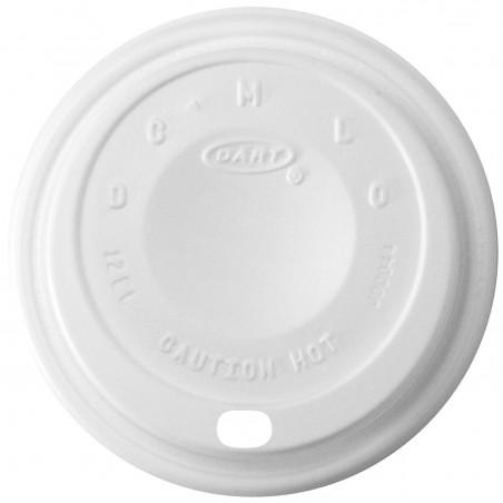 """Tapa de Plastico PS """"Cappuccino"""" Blanca Ø8,9cm (1000 Uds)"""