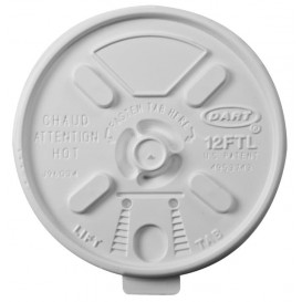 Tapa Recerrable Plastico PS Blanco Ø8,9cm (1000 Uds)