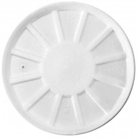 Tapa Isotérmica con Respidadero Blanca Ø11cm (50 Uds)