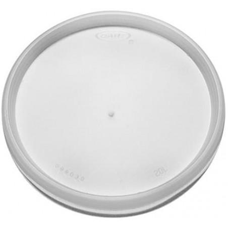 Tapa de Plastico PS Trans. Plana para Foam Ø11,7cm (500 Uds)
