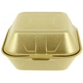 Envase Hamburguesa FOAM Grande Oro (500 Uds)