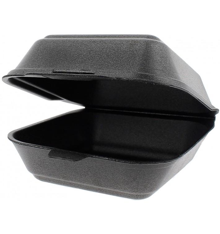 Envase Hamburguesa FOAM Grande Negro (125 Uds)