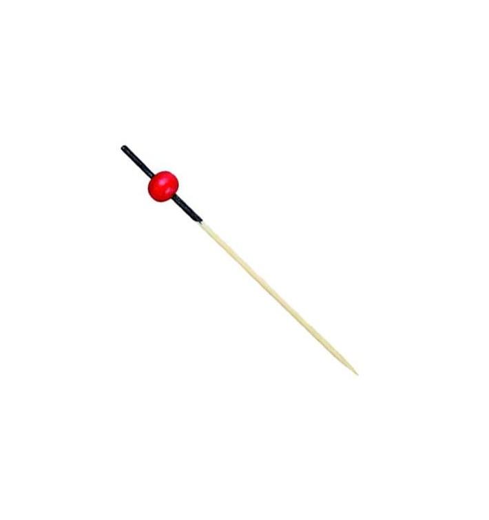 Pinchos de Bambu Decorados Rojo y Negro 120mm (5000 Uds)