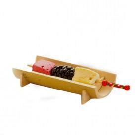 Pinchos de Bambú Decorados en Rojo 120 mm (5000 Uds)