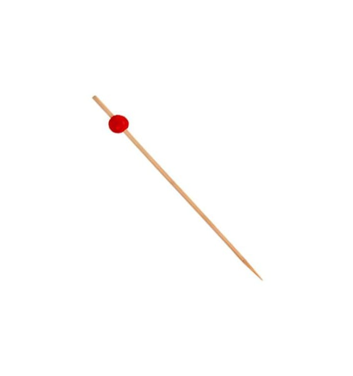 "Pinchos de Bambu Decorado ""Big Ball"" Rojo 120mm (200 Uds)"