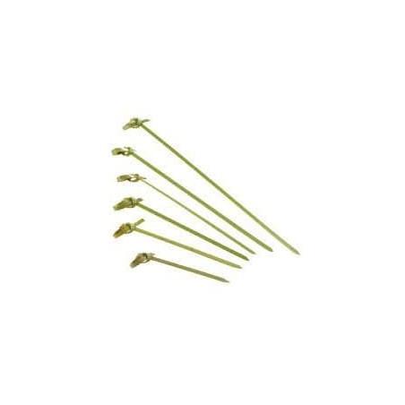 "Pinchos de Bambu ""Lazo"" Verde Natural 150mm (200 Uds)"