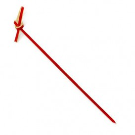 "Pinchos de Bambu ""Lazo"" Rojo 90mm (200 Uds)"