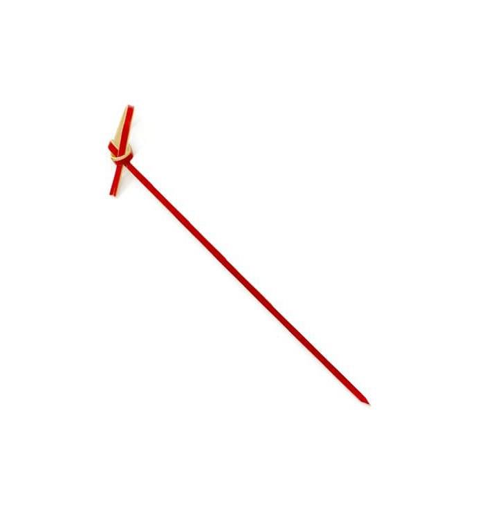 "Pinchos de Bambu ""Lazo"" Rojo 120mm (200 Uds)"