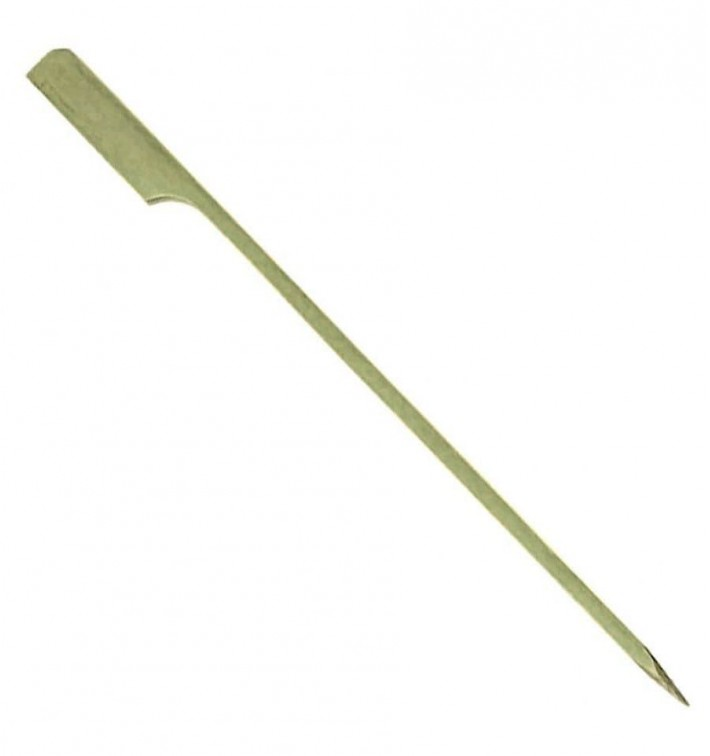 "Pinchos de Bambu ""Golf"" Verde Natural 90mm (200 Uds)"