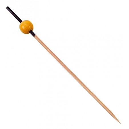 Pinchos de Bambu decorado Negro y Amarillo 120mm (5000 Uds)