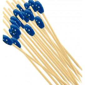 """Pinchos de Bambu """"Punteado"""" Azul 120mm (5000 Uds)"""