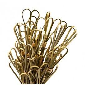 "Pincho de Bambú ""Cuore"" Verde Natural 150mm (200 Uds)"