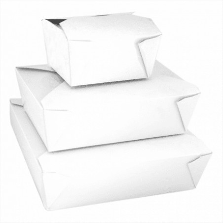 Caja de Carton Americana Blanca 113x90x64mm 600ml (50 Uds)