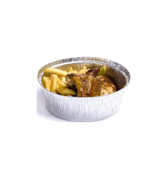 Envase de Aluminio Redondo para Pollos 1900ml (500 Uds)