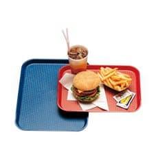 Bandeja de Plastico Fast Food Roja 27,5x35,5cm (24 Uds)