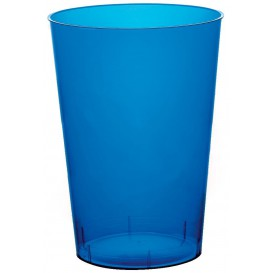 Vaso de Plastico Moon Azul Transp. PS 230ml (1000 Uds)
