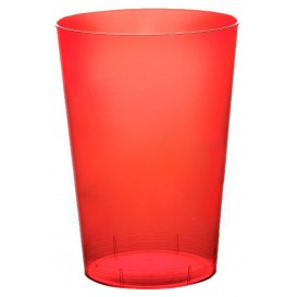 Vaso de Plastico Moon Rojo Transp. PS 230ml (1000 Uds)