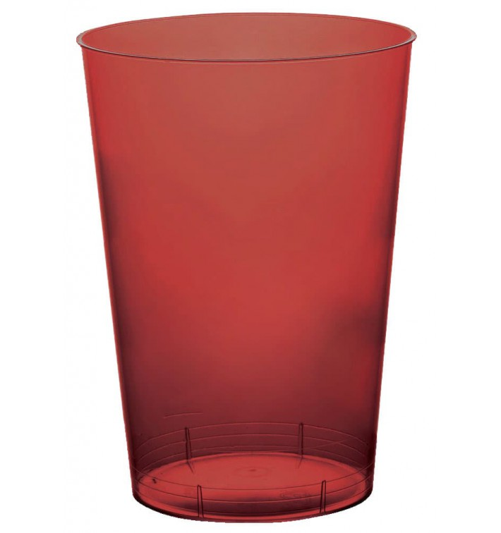 Vaso de Plastico Moon Burdeos Transp. PS 230ml (50 Uds)