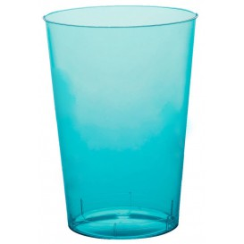 Vaso de Pastico Turquesa Transp. PS 200ml (35 Uds)