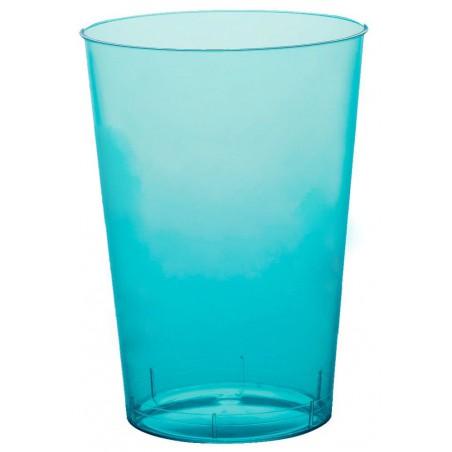 Vaso de Plastico Moon Turquesa Transp. PS 230ml (50 Uds)