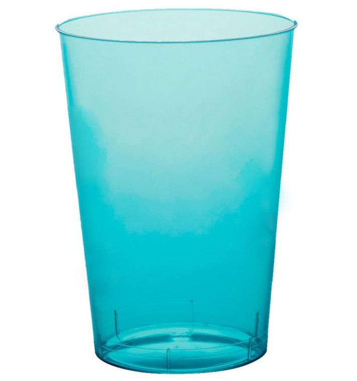 Vaso de Plastico Moon Turquesa Transp. PS 230ml (1000 Uds)