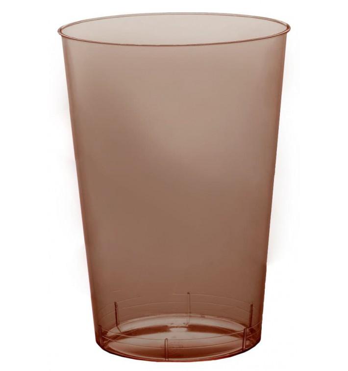 Vaso de Plastico Moon Marron Transp. PS 230ml (1000 Uds)