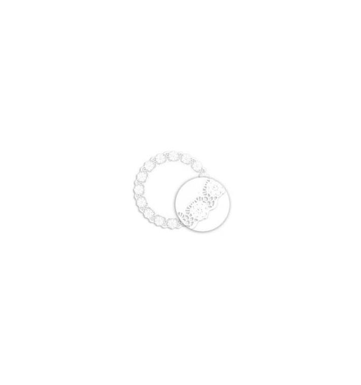 Rodal de Papel Calado Blanco Litos Ø280mm (250 Uds)