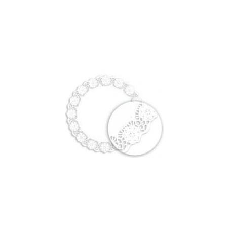 Rodal de Papel Calado Blanco Litos Ø360mm (250 Uds)