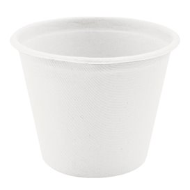Tarrina de Caña de Azucar Blanca Ø95mm 425ml (600 Uds)