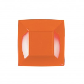 Plato de Plastico Llano Naranja Nice PP 180mm (25 Uds)
