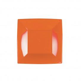 Plato de Plastico Llano Naranja Nice PP 180mm (300 Uds)