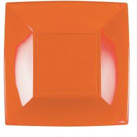 Plato de Plastico Llano Naranja Nice PP 290mm (12 Uds)