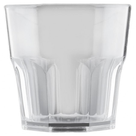 Vaso de Plastico Transparente SAN Ø73mm 160ml (8 Uds)