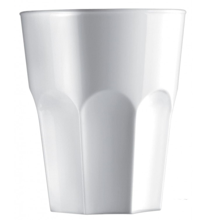Vaso Reutilizable SAN Granity Blanco 400 ml (5 Uds)